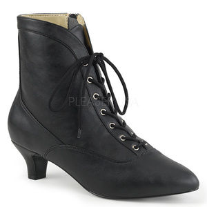 Shoes - High Heel Lace Up Ankle Booties Boots Shoes Zipper
